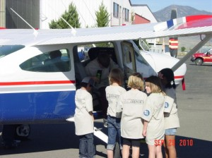 3rd Graders with Plane