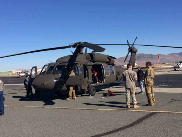 Army National Guard Blackhawk helicopter at the Youth Aviation Adventure