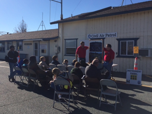 Scouts get a lesson on aircraft instrumentation systems