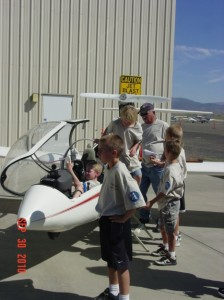 Kids with a Glider